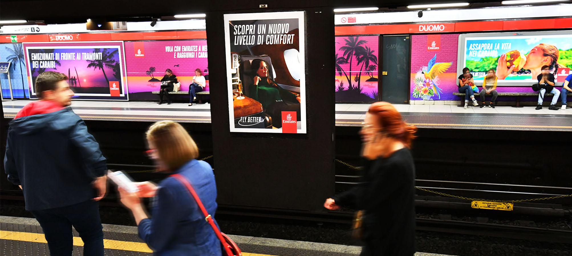 Station Domination in Milan for Emirates