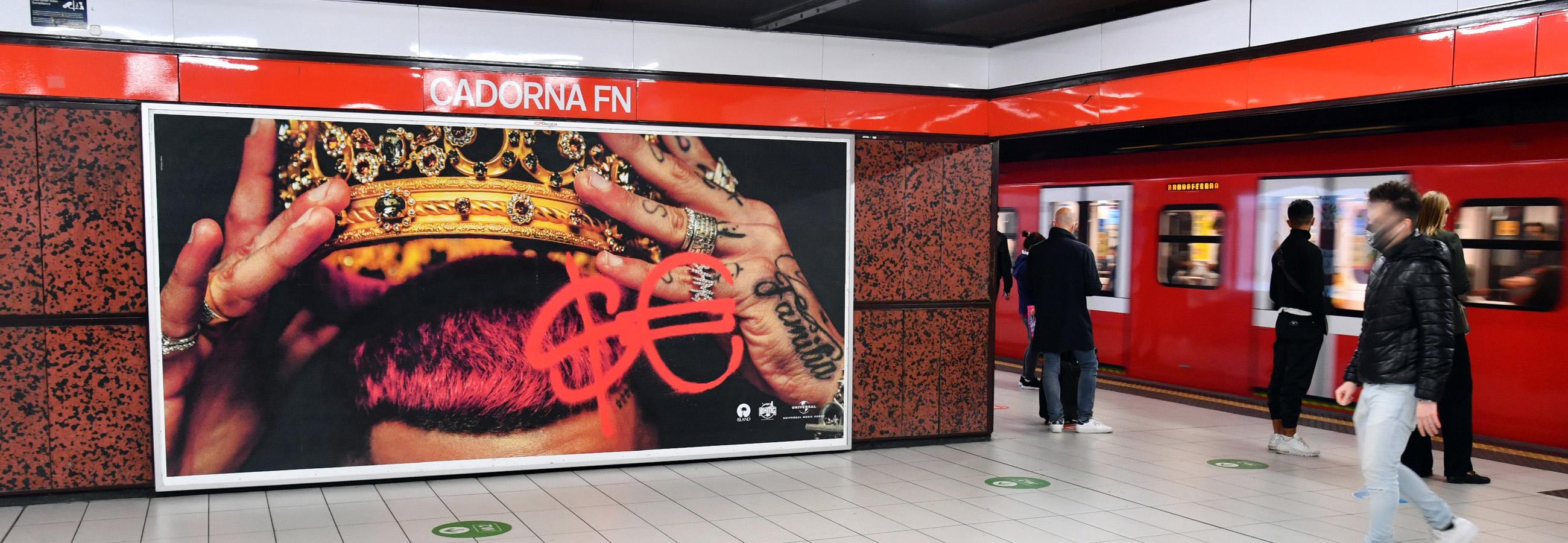 Circuito Maxi metropolitana Sfera Ebbasta IGPDecaux Milano