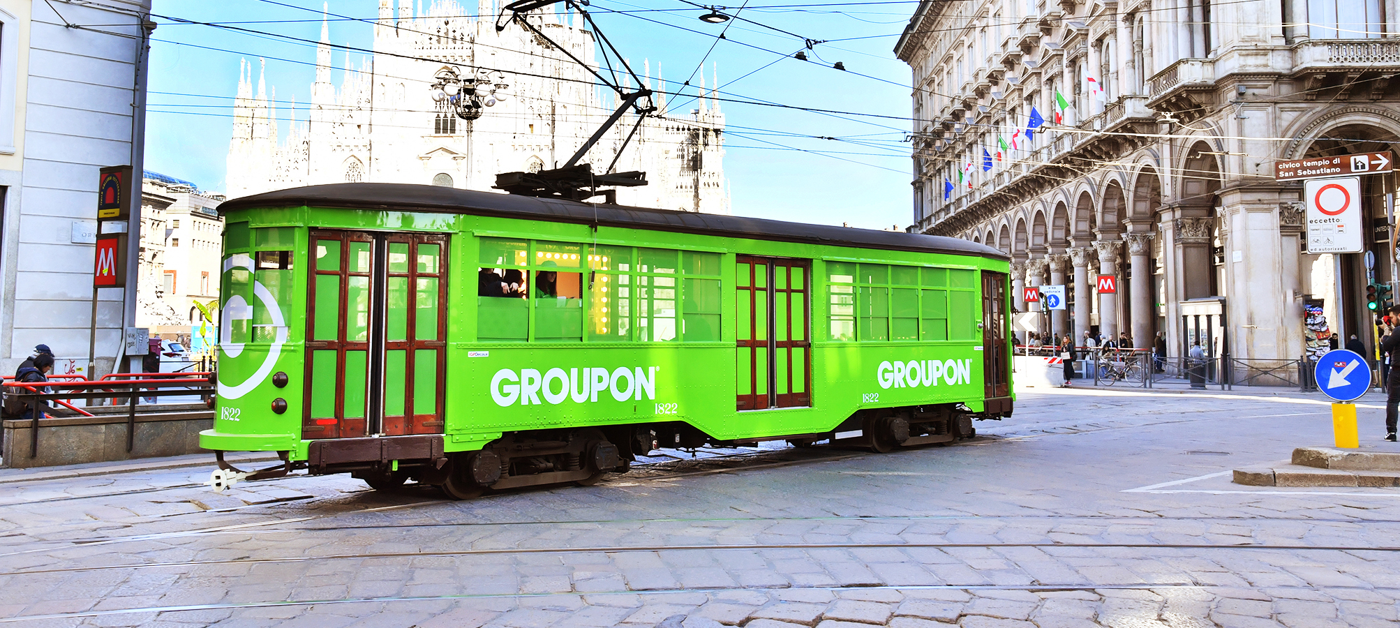 Tram speciale a Milano per Groupon