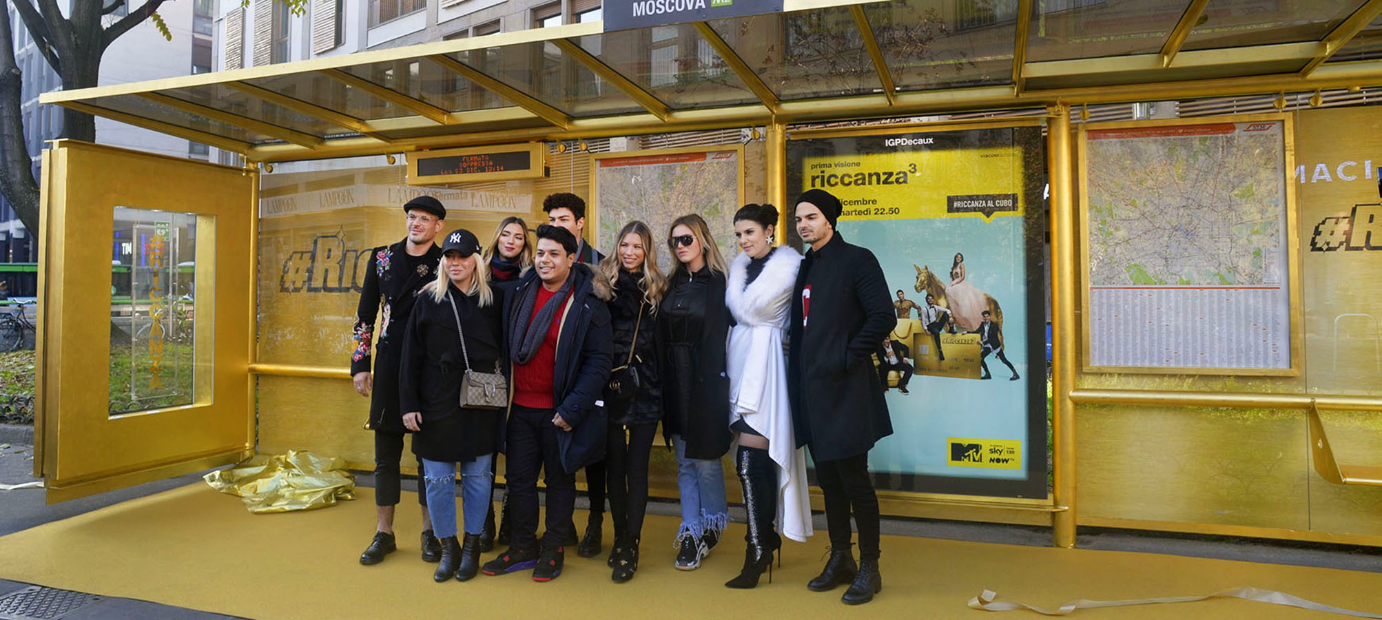 Brand Shelter in Milan for Riccanza