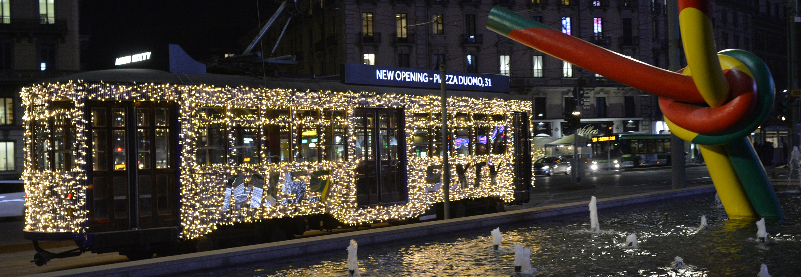The Christmas Tram is back in Milan
