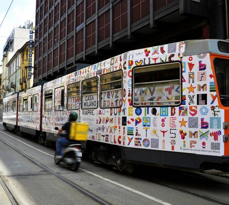 Pubblicità Out of Home su tram IGPDecaux Full-Wrap Lorenzo Marini