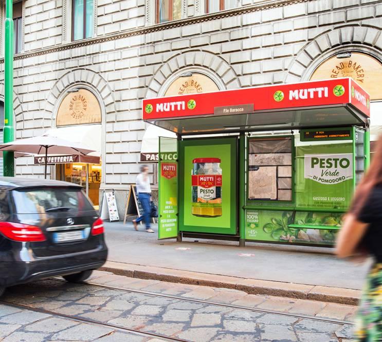 Pensiline decorate IGPDecaux a Milano per Mutti