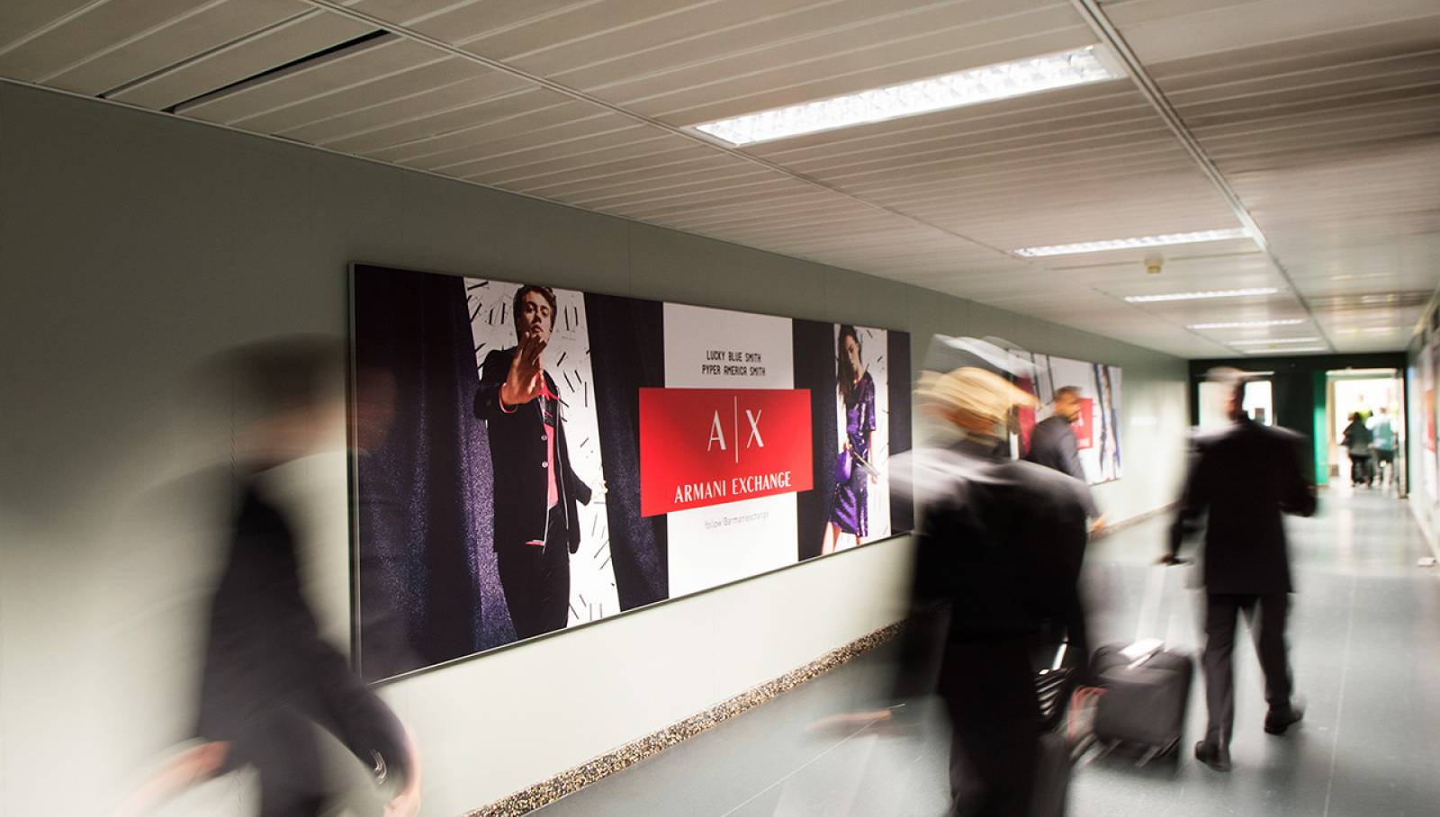 Airport Advertising IGPDecaux Finger at Malpensa airport for Armani