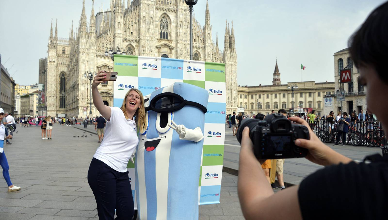 IGPDecaux Live Moving-photo set for Fidia Connettivina in Milan