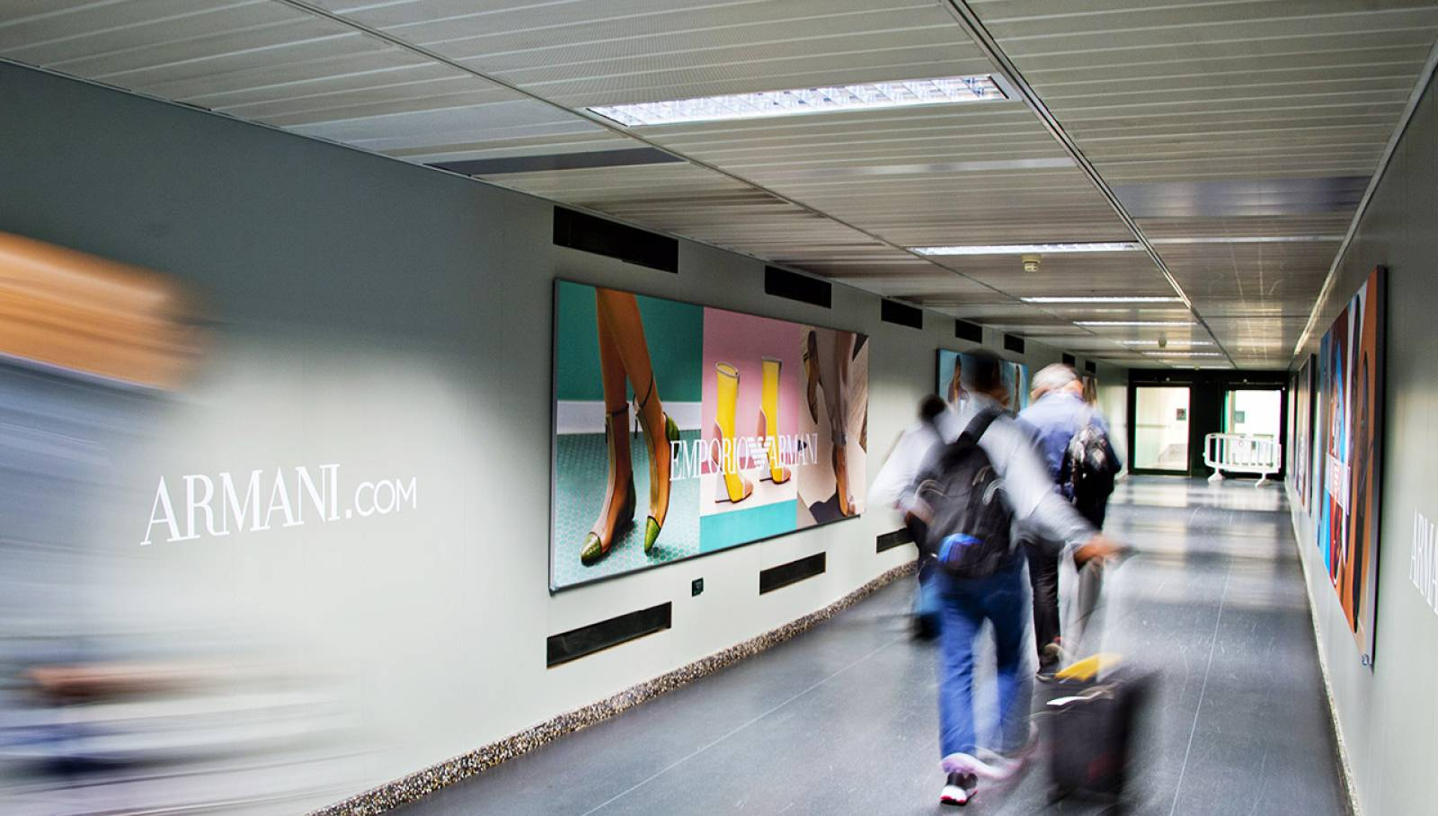 Malpensa airport advertising IGPDecaux Finger for Armani