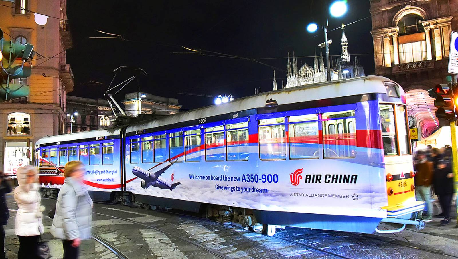 Out of Home advertising IGPDecaux Milan Wrapped Vehicles for Air China