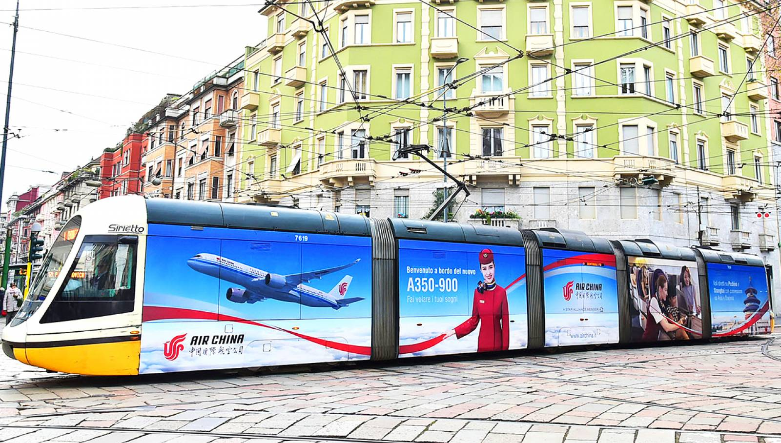 IGPDecaux Milan Wrapped vehicles for Air China