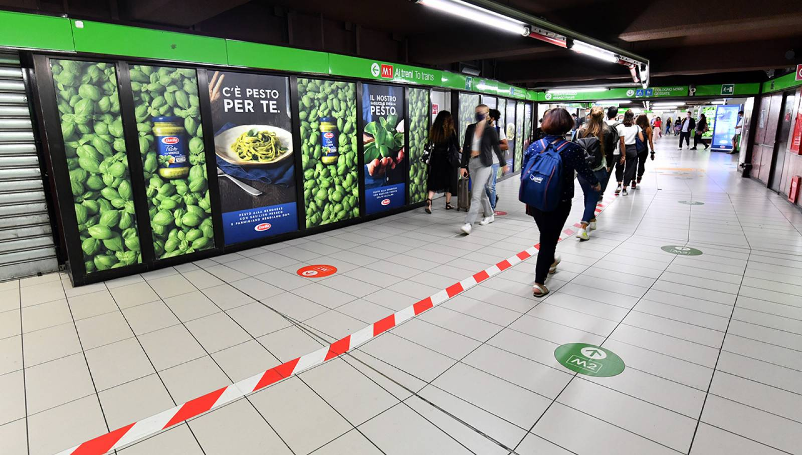 OOH IGPDecaux Milano Station Domination Cadorna per Barilla