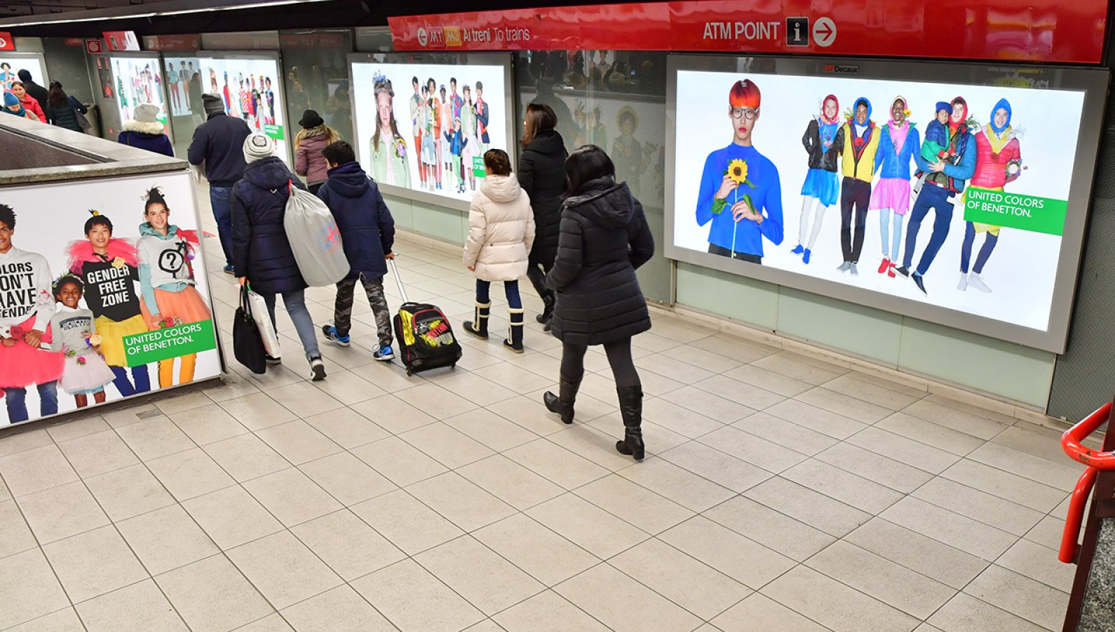 IGPDecaux Milano station domination per Benetton