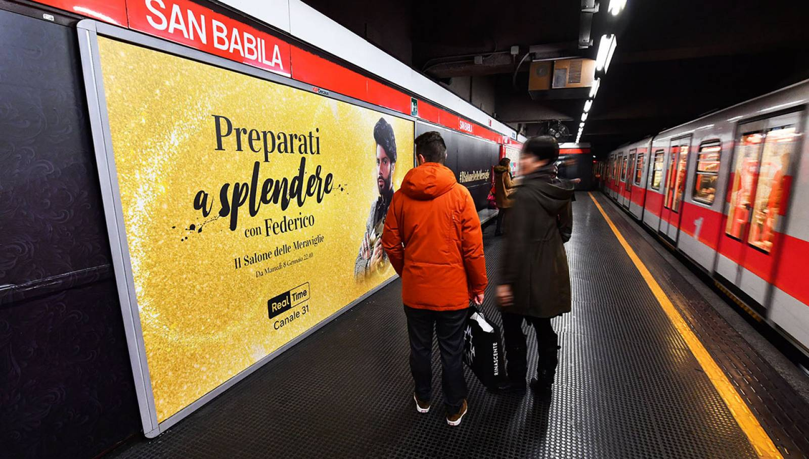 Underground advertising IGPDecaux Milan station domination for Discovery Channel