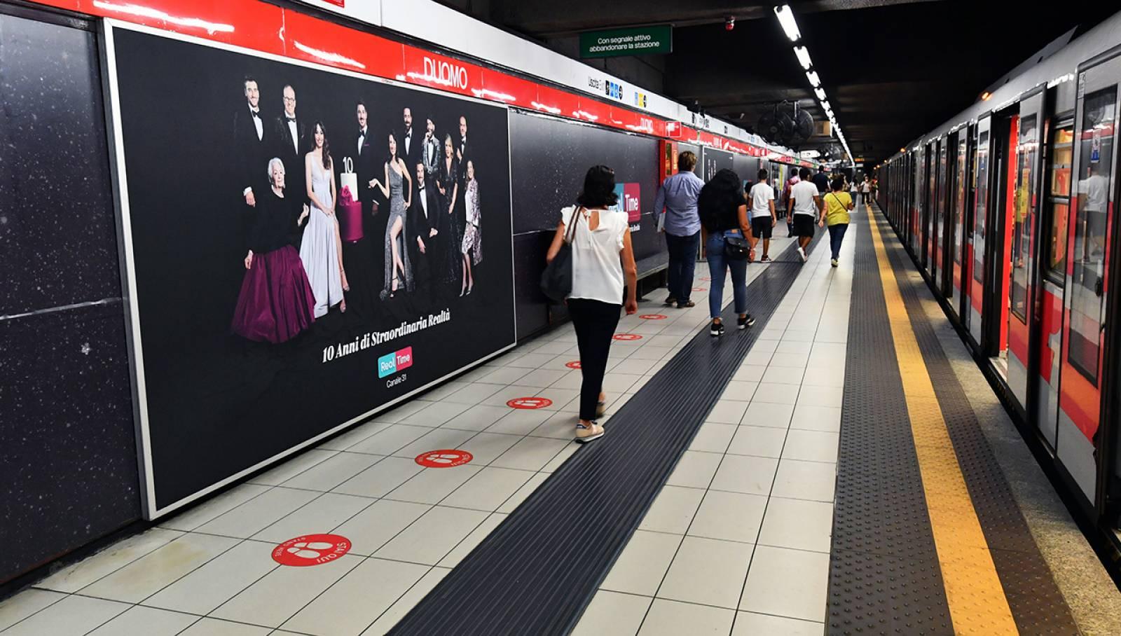 Pubblicità in metropolitana Station Domination IGPDecaux Milano per Discovery Real Time