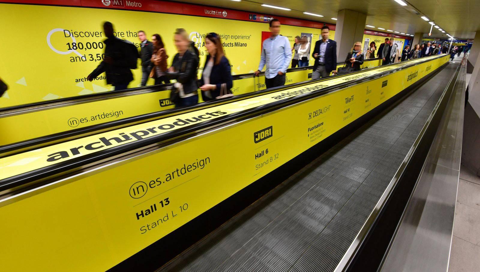 Pubblicità metro Milano Station Domination Rho-Edilportale-Design Week-IGPDecaux