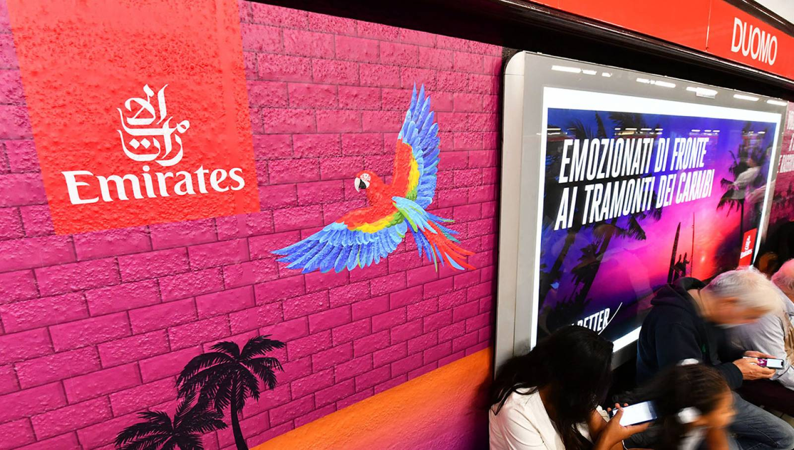 IGPDecaux Station Domination for Emirates in Milan