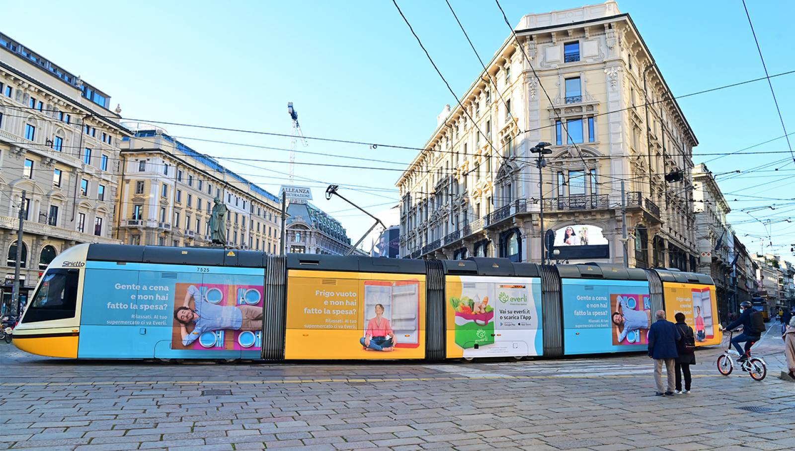 Pubblicità outdoor a Milano per Everli Full-Wrap IGPDecaux