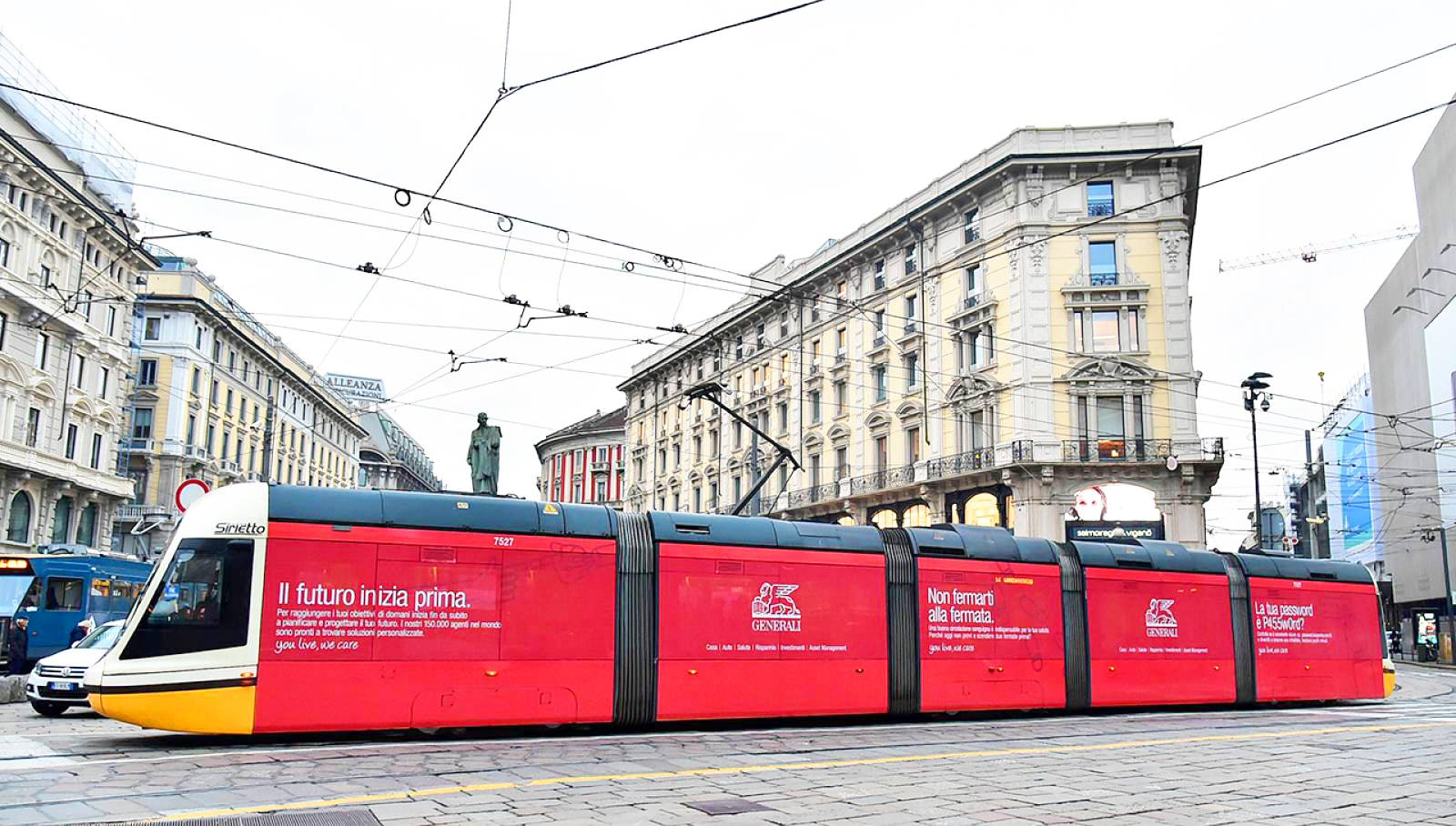 IGPDecaux Milan wrapped vehicle for Generali