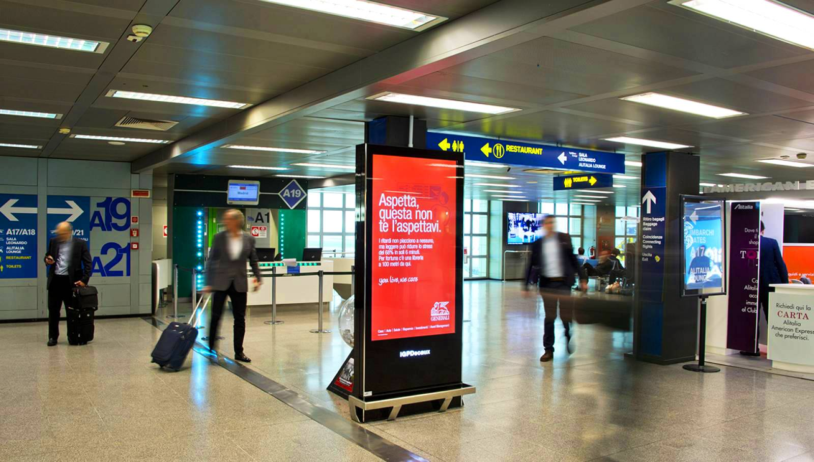 Digital Out Of Home advertising IGPDecaux digital network for Generali