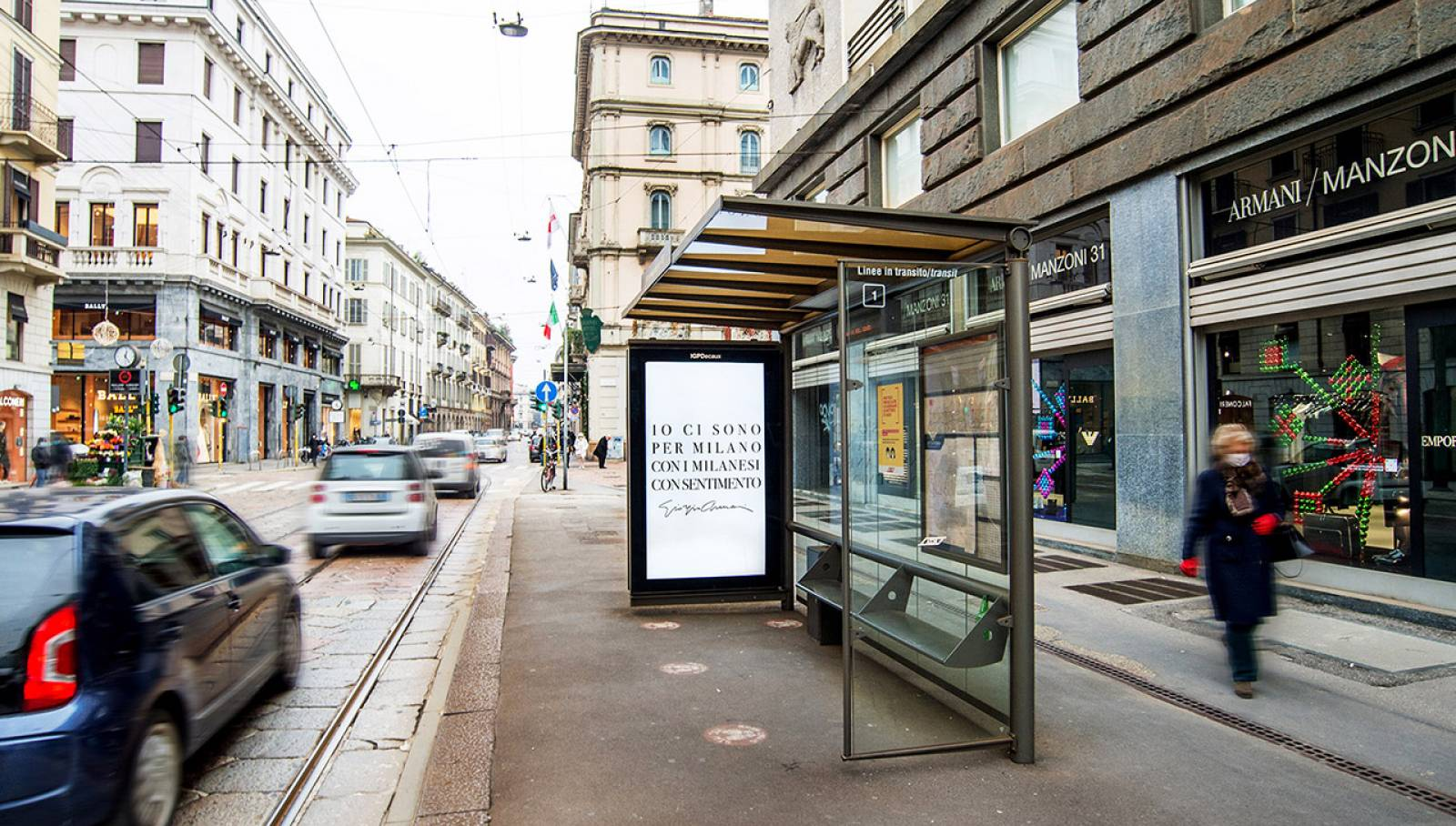 IGPDecaux Milano Digital OOH per Giorgio Armani