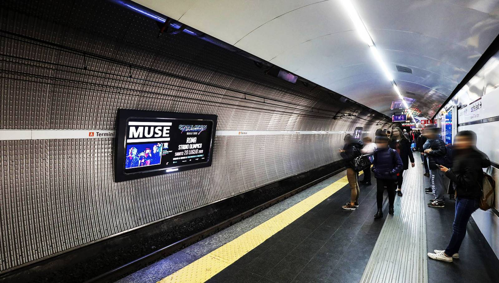 OOH advertising a Roma IGPDecaux Horizon per i Muse