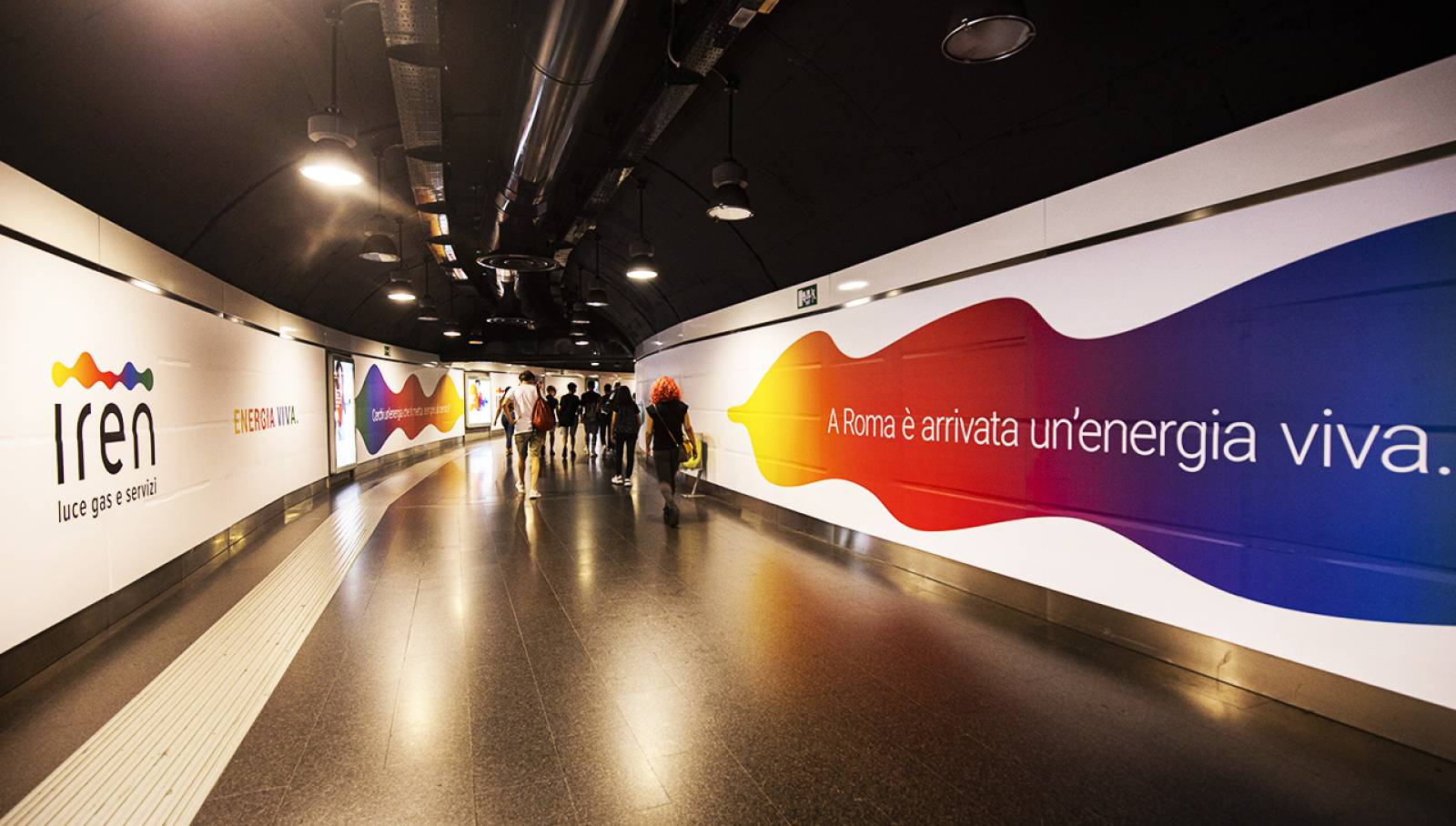 Station Domination in metropolitana a Roma per Iren IGPDecaux Creative Solutions