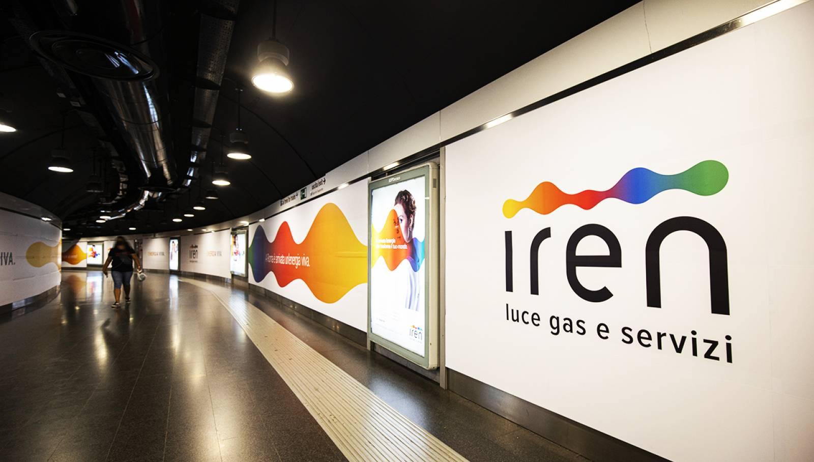 Pubblicità OOH in metropolitana IGPDecaux Station Domination per Iren