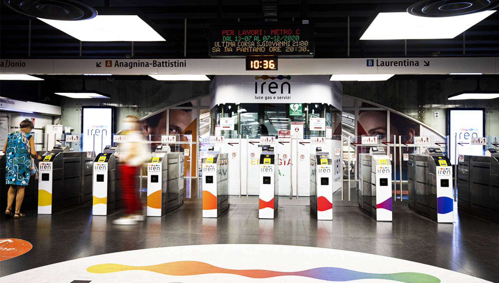 IGPDecaux Out of Home advertising Roma Station Domination per Iren