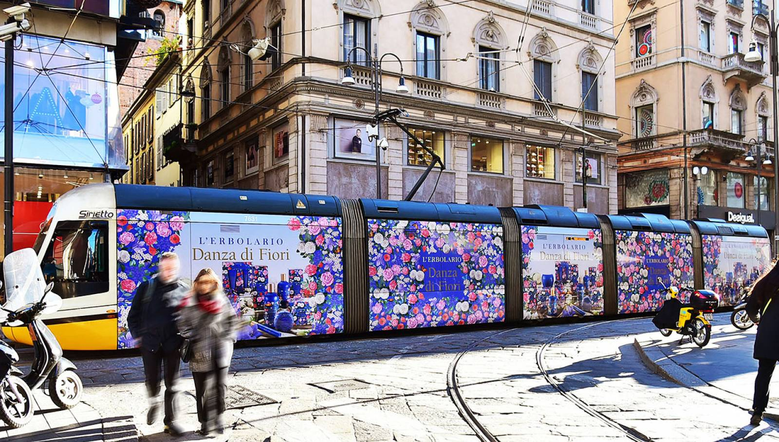 IGPDecaux Out of Home advertising Wrapped Vehicles in Milan for L'Erbolario