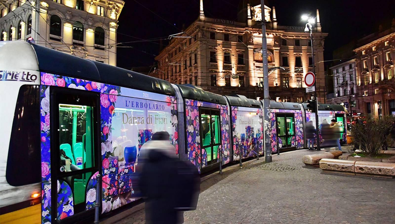 OOH IGPDecaux a Milano tram decorato per L'Erbolario