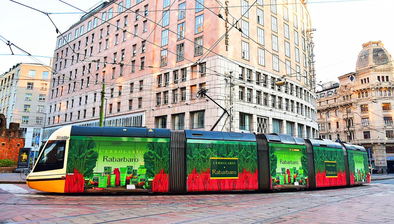Wrapped Vehicles in Milan IGPDecaux decorated tram for L'Erbolario
