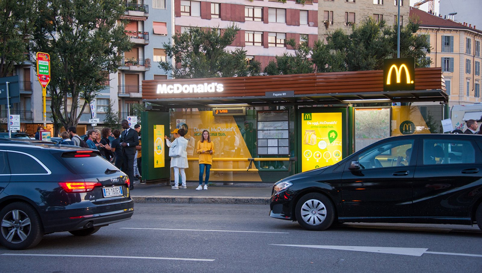 McDelivery special bus shelters IGPDecaux