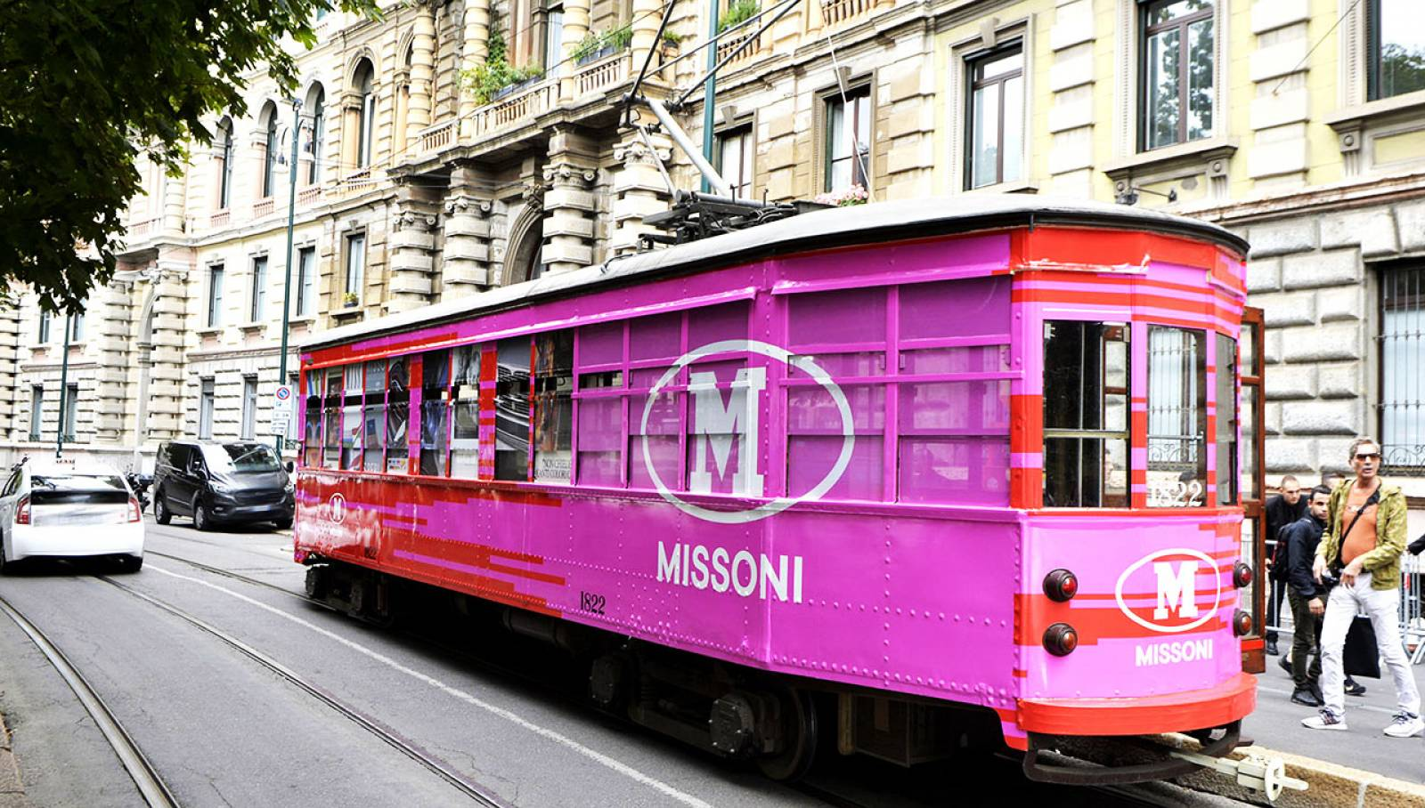 Advertising on tram IGPDecaux Milan tram for M Missoni