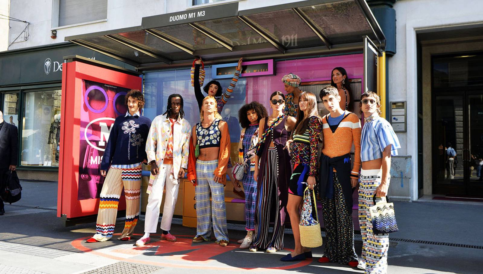 Outdoor advertising IGPDecaux in Milan Brand shelter for M Missoni