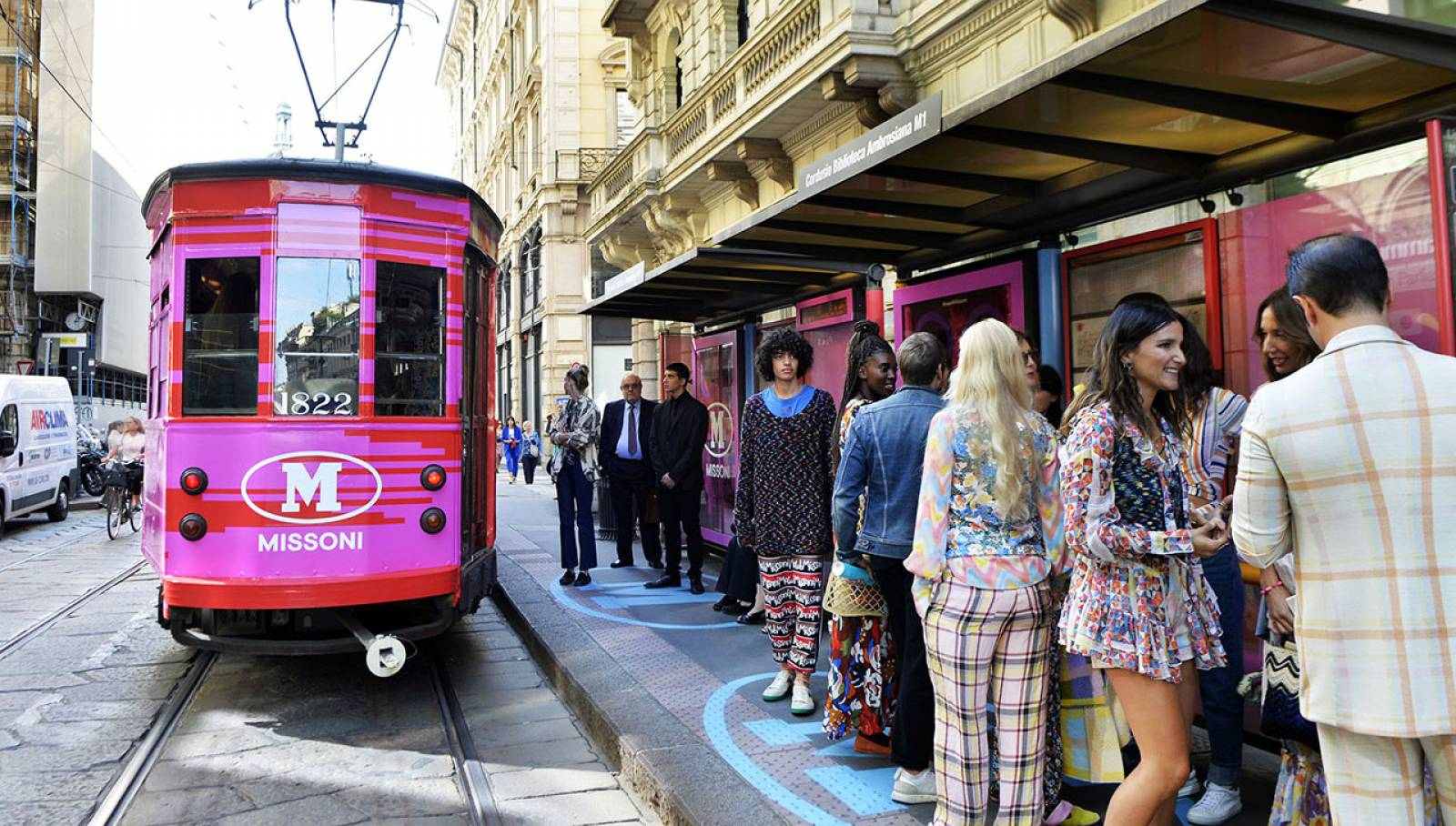 OOH campaign in Milan IGPDecaux tram for M Missoni