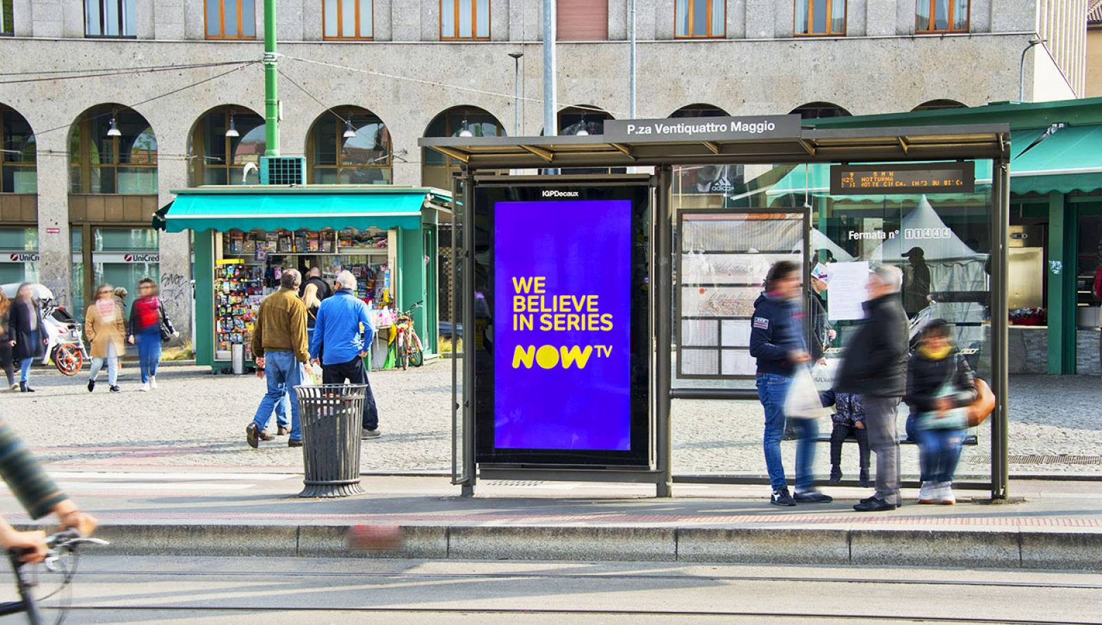 Digital OOH a Milano Pensiline digitali IGPDecaux per il Trono di Spade Now TV