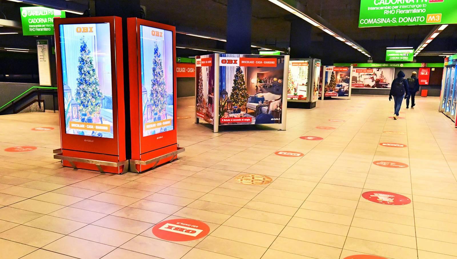 Pubblicità OOH a Milano Station Domination Milano Centrale IGPDecaux per OBI Italia