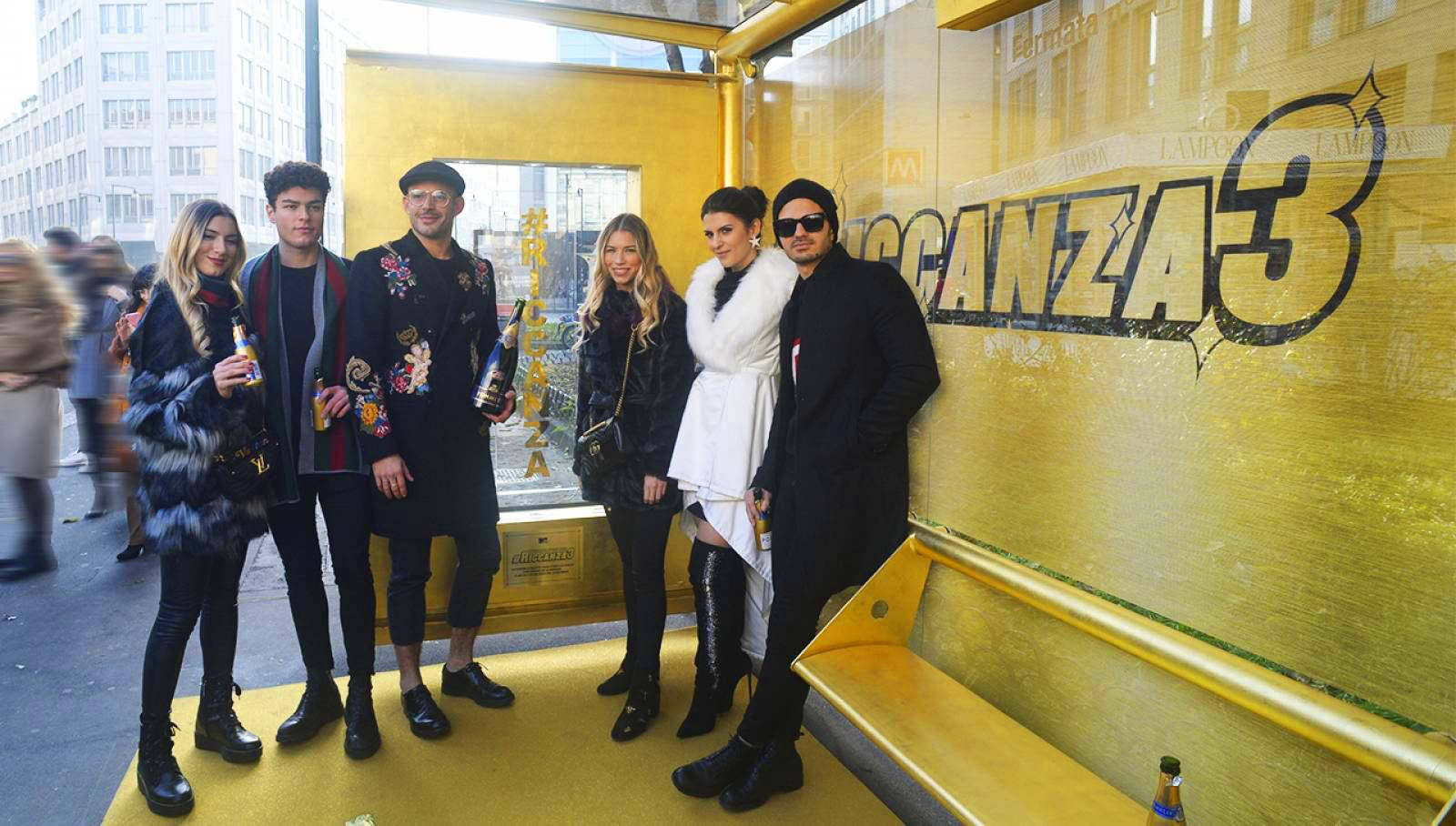 OOH IGPDecaux Milano brand shelter for Riccanza MTV