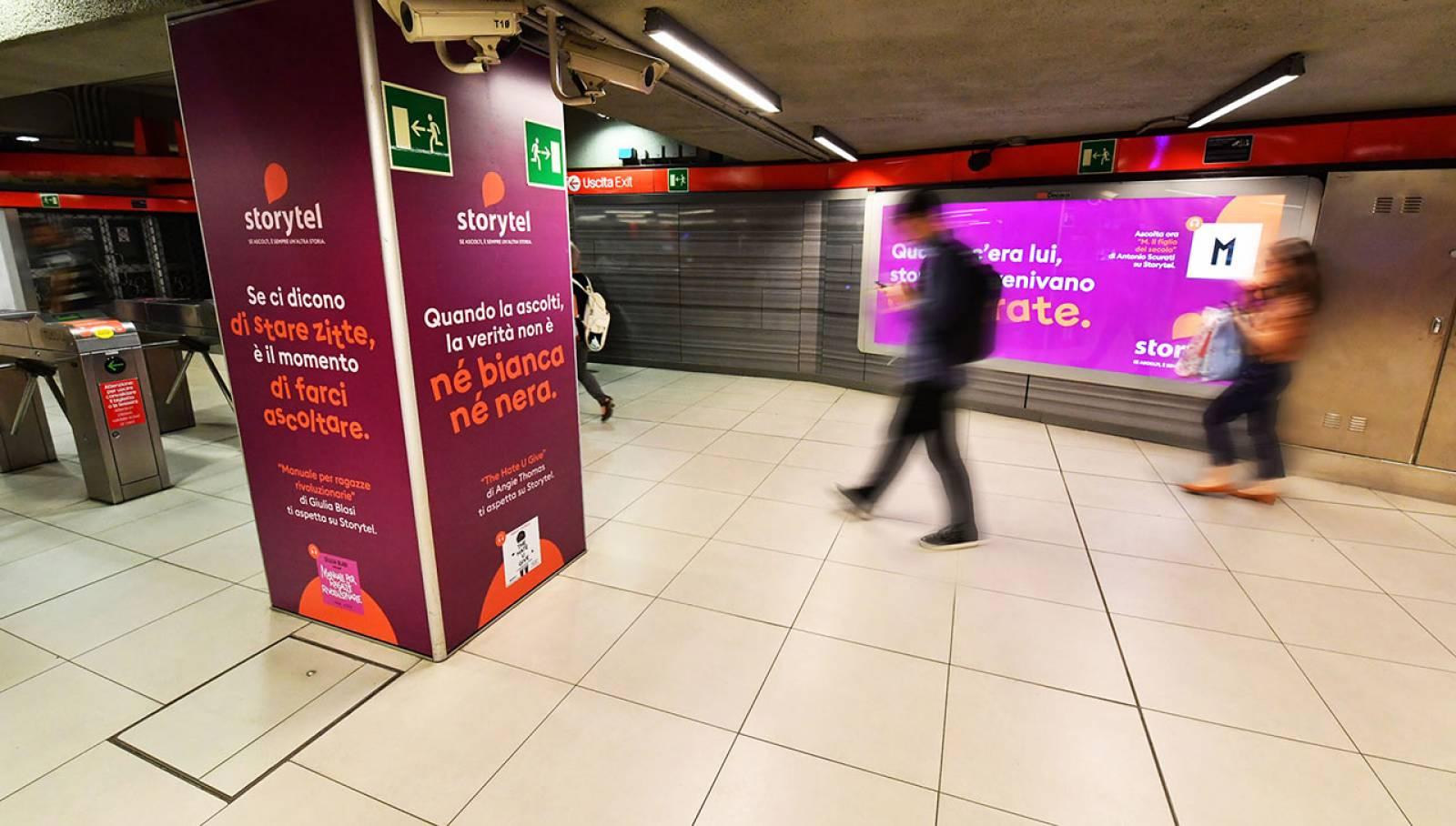 IGPDecaux Milan Station Domination for Storytel