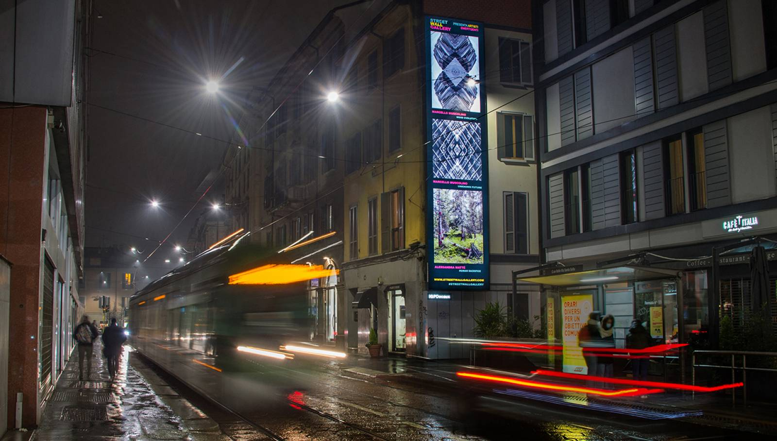 IGPDecaux OOH Milano impianto per Street Wall Gallery