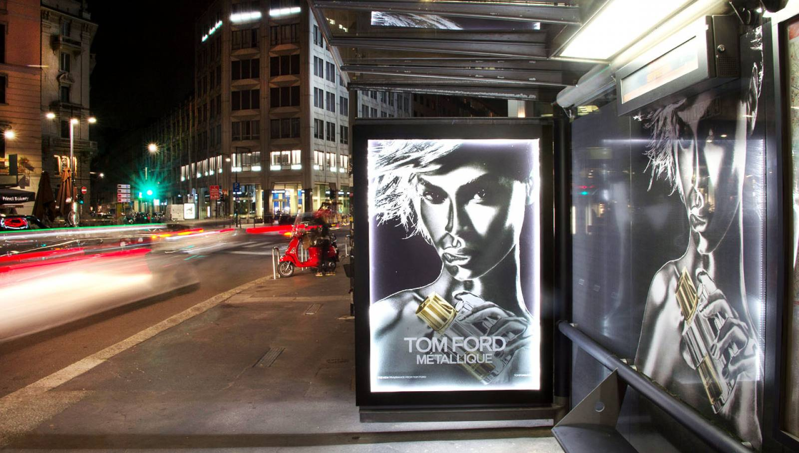 Advertising OOH IGPDecaux Brand shelters for Tom Ford in Milan