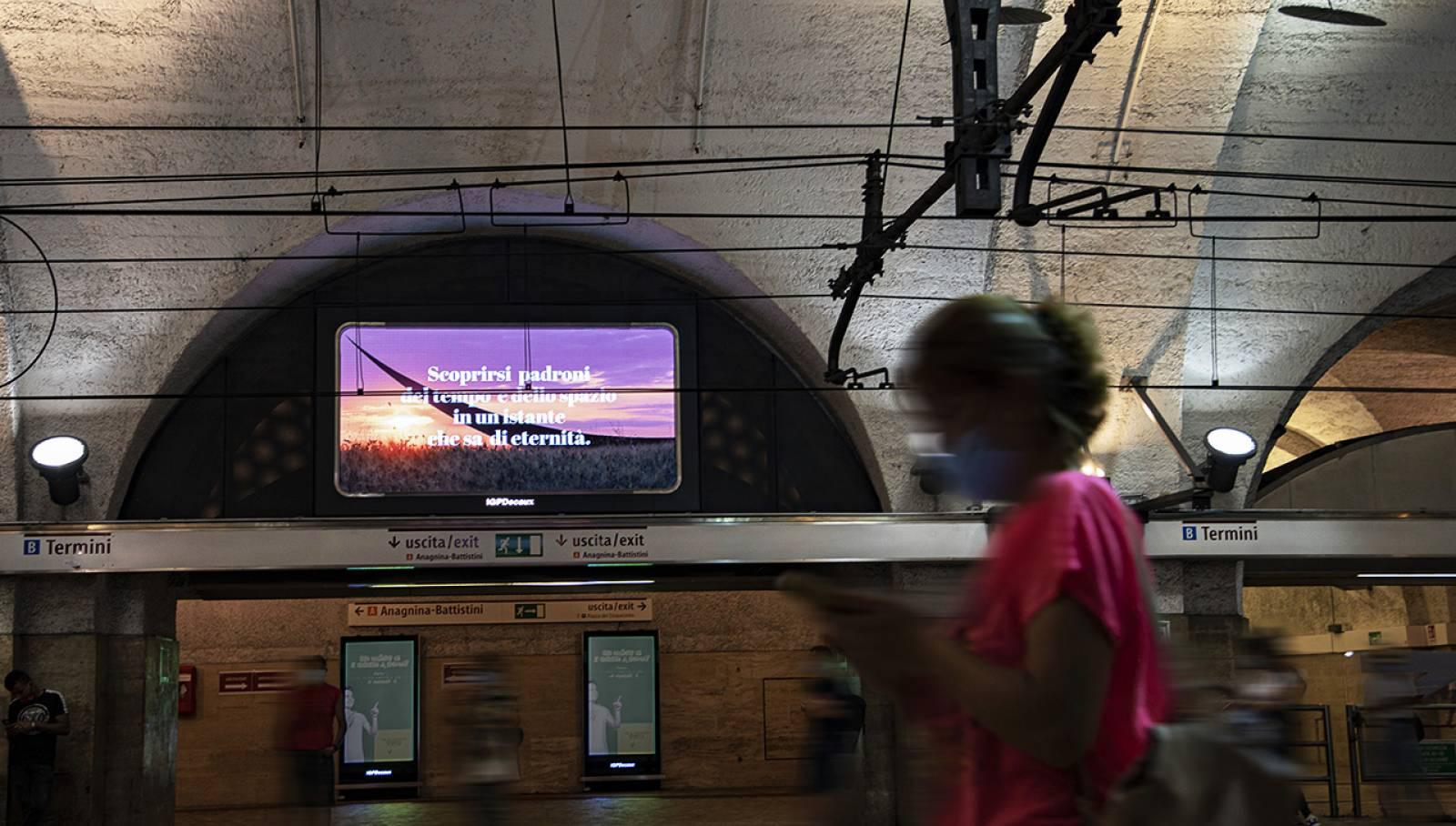 Pubblicità in metropolitana a Roma Horizon IGPDecaux per Toscana Promozione Turistica