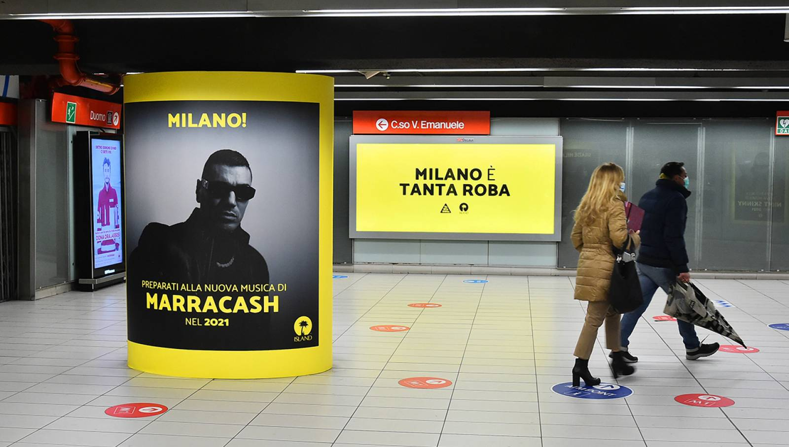 OOH IGPDecaux Milano Station Domination per Island Records