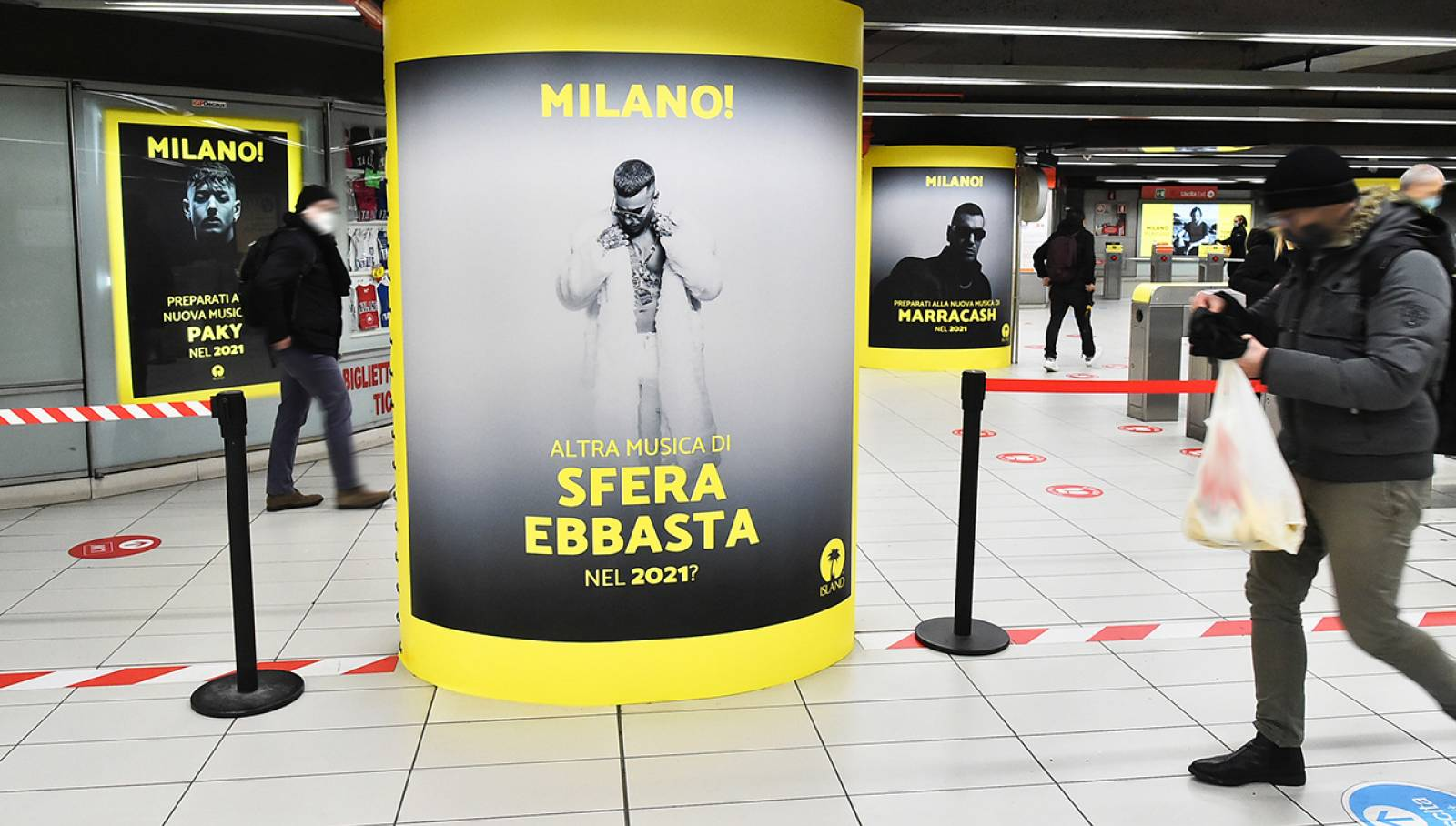 Out Of Home IGPDecaux a Milano Station Domination in metropolitana per Island Records
