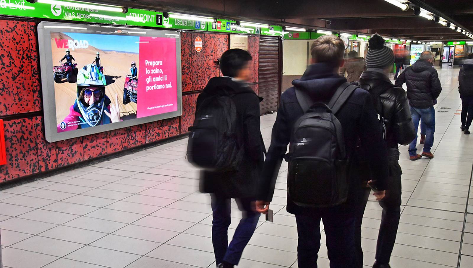 OOH advertising in Milan Landscape Coverage Network IGPDecaux for WeRoad