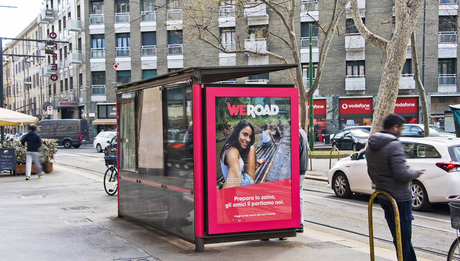 Out of Home advertising in Milan Brand Shelters IGPDecaux for WeRoad