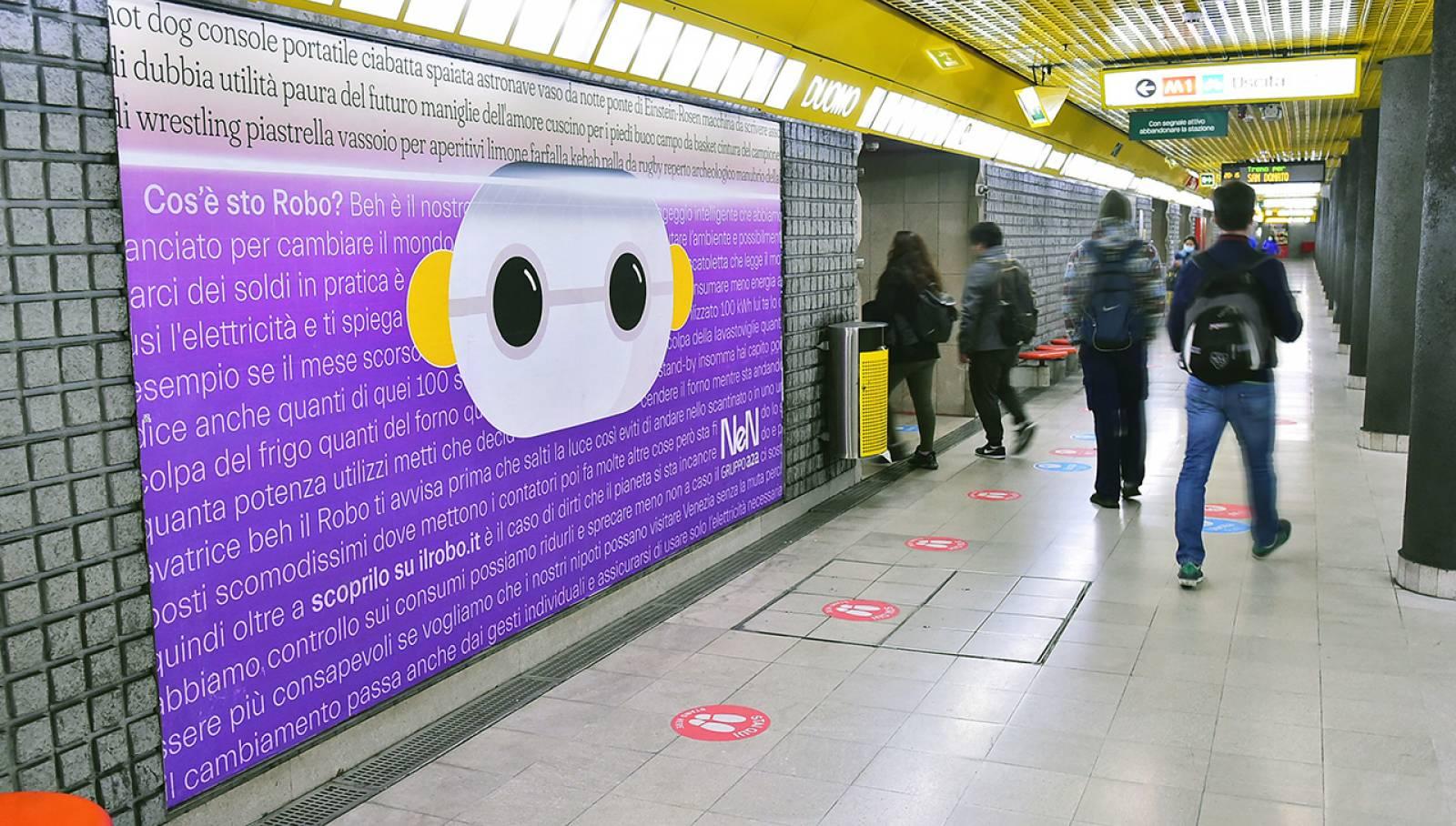 Pubblicità in metro a Milano Circuito Phygital per NeN IGPDecaux