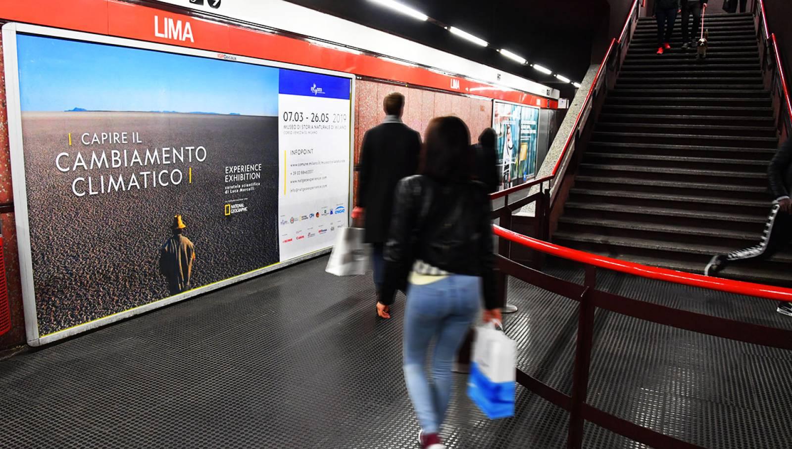 Circuito maxi metropolitana a Milano per Capire il cambiamento climatico - Experience Exhibition IGPDecaux