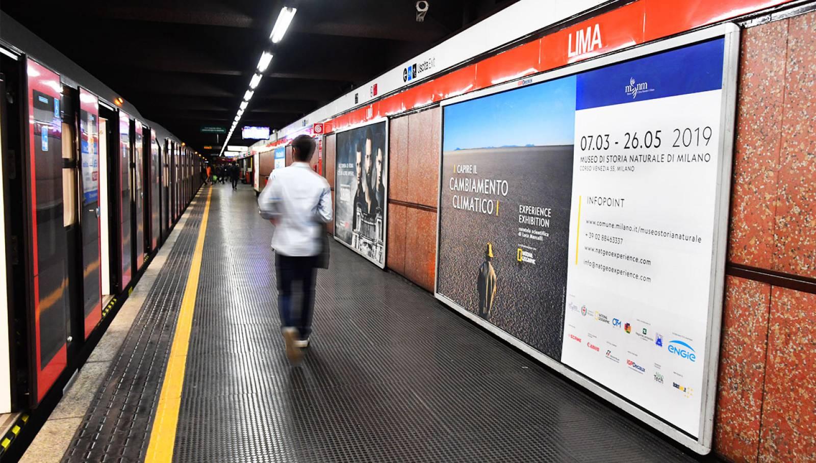 Circuito maxi metropolitana a Milano per Capire il cambiamento climatico - Experience Exhibition IGPDecaux media partner
