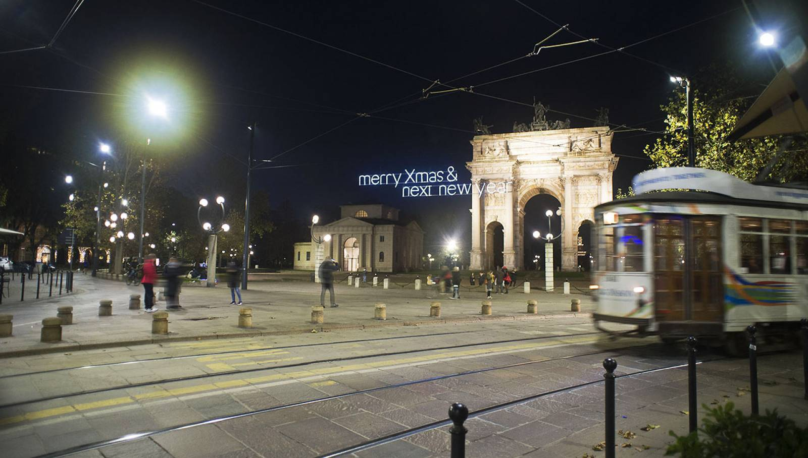 IGPDecaux Christmas lights for Nexi in Milan