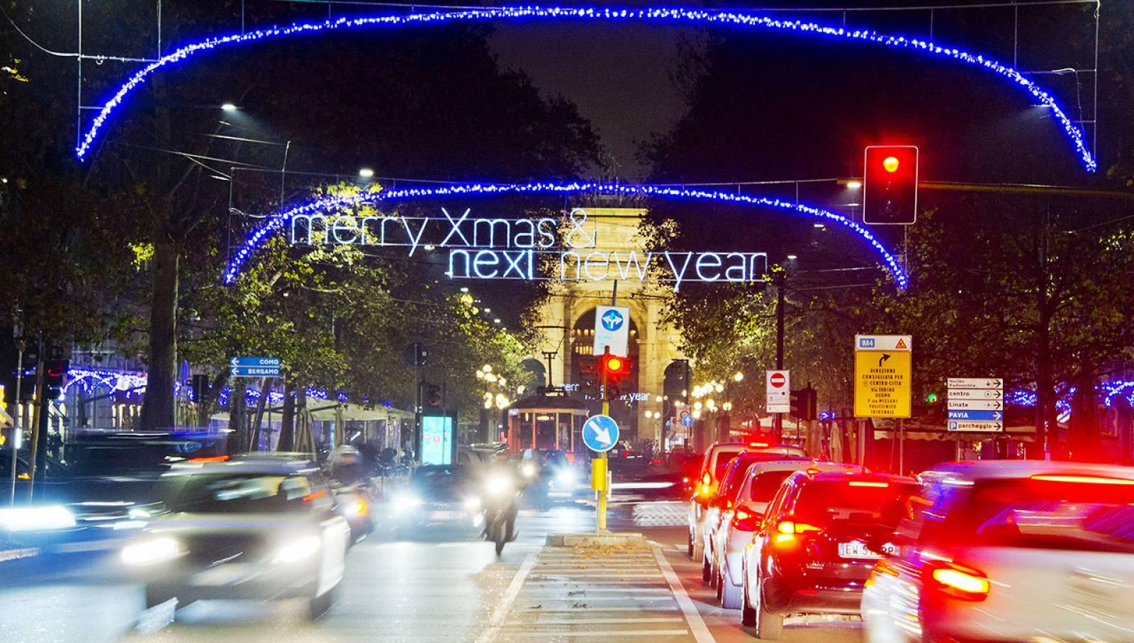 Illuminazione Corso Sempione per Nexi IGPDecaux Milano