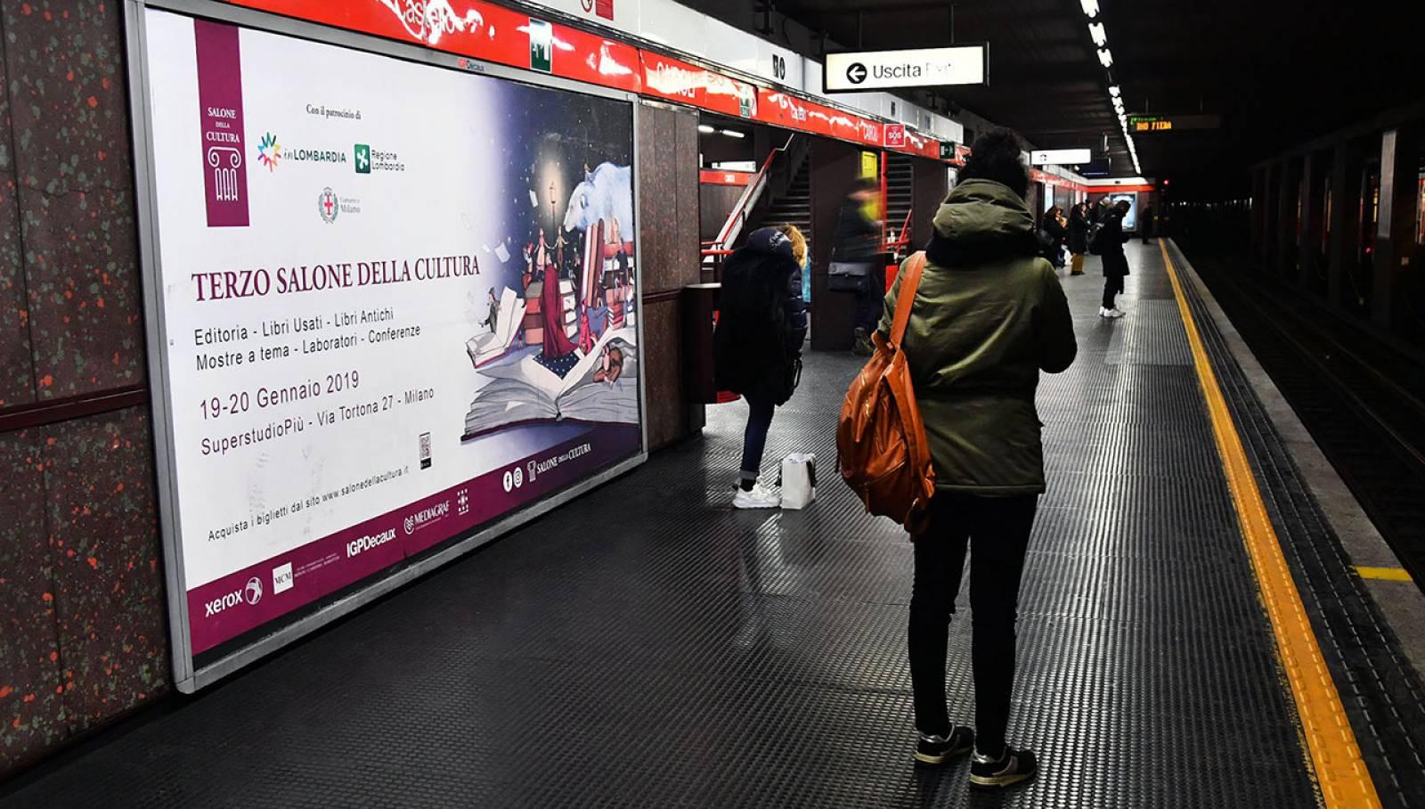 OOH IGPDecaux a Milano circuito phyigital per il Salone della cultura